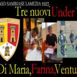 Calcio:Tre under approdano al Sambiase Lamezia 1923