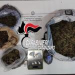 Aveva oltre 2 kg di droga a casa arrestato dai carabinieri