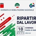 Fai Cisl, Flai Cgil e Uila Uil presenti a Cosenza per la manifestazione