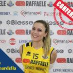Pallavolo: la Raffaele Lamezia conferma Erika Gambardella
