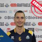 Pallavolo: Raffaele Lamezia conferma palleggiatore Antonio Rizzo