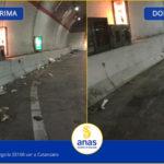 Anas: conclusi lavori pulizia lungo la SS106 Var a Catanzaro