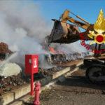 Incendi: a fuoco discarica comunale Cassano sullo  Jonio