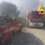 Incendi: a fuoco tra Davoli e San Sostene discarica abuisiva