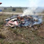Incendiano cumuli di rifiuti per disfarsene, due denunce
