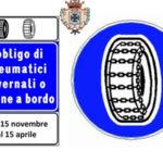 Strade Provinciali, dal 15 novembre obbligo di catene a bordo
