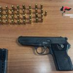Rinvenuta pistola con matricola abrasa, arrestato un 56enne pregiudicato