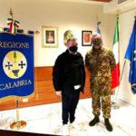 Emergenza covid, il presidente Spirlì incontra il generale Tota