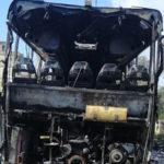 Andato a fuoco autobus di ferrovie della Calabria