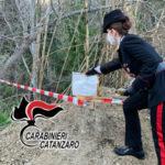I carabinieri della stazione di Borgia scoprono discarica abusiva
