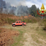 Incendi boschivi, vigili del fuoco al lavoro in provincia di Catanzaro