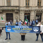 Il flashmob di Fratelli d'Italia per il primo maggio
